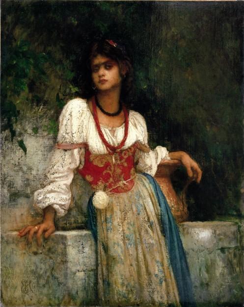 8 -Hébert - Rosa Nera à la fontaine